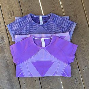 Ivivva by Lululemon Purple Tops Bundle 14 Small